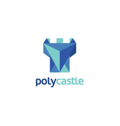 modern blue abstract castle logo vector image