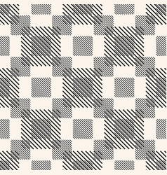 monochrome geometric seamless pattern with vector image
