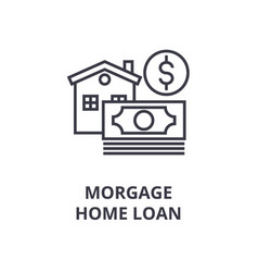 morgage home loan line icon outline sign linear vector image