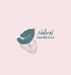 Natural cosmetics logo design vector