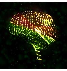 Neon brain vector