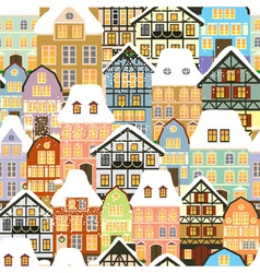old city pattern vector image