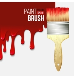Paintbrushes with dripping paint vector image