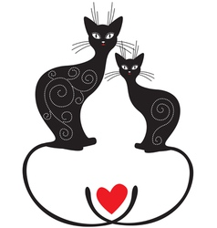 Pair cats vector