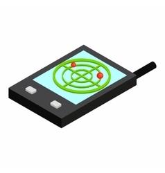 Pocket radar isometric 3d icon vector