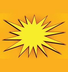 Pop art comic splash orange vector
