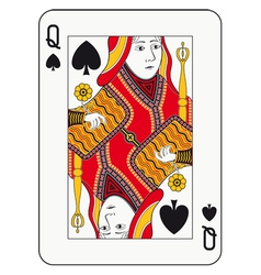 Queen spades vector
