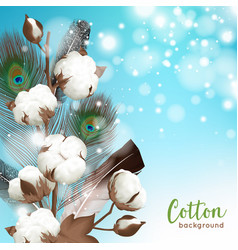 Realistic cotton background vector