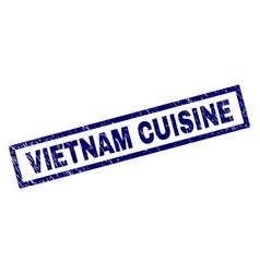rectangle scratched vietnam cuisine stamp vector image