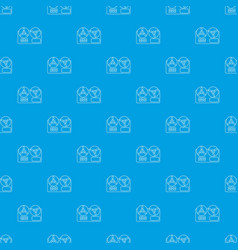 reel tape recorder pattern seamless blue vector image