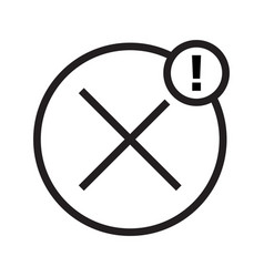 Rejected cancelled notices line art icon vector