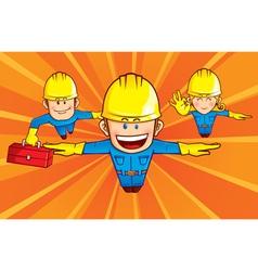 repairman superhero vector image