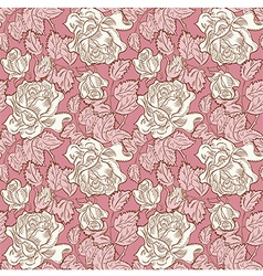 rose flower seamless background vector image