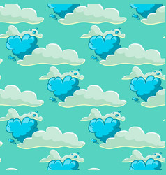 Seamles pattern with cloud and balloon vector