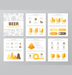 set of colored beer and bar pub elements for vector image