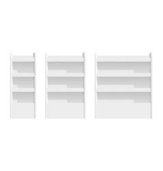 shelves mockup isolated store rack 3d blank vector image