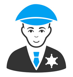 Sheriff flat icon vector