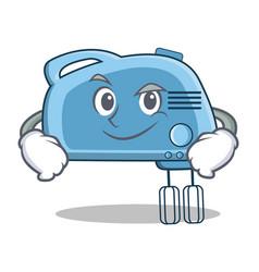 Smirking mixer character cartoon style vector