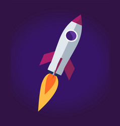 Space rocket ship poster vector