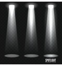 Spotlight shine effects on a dark background vector