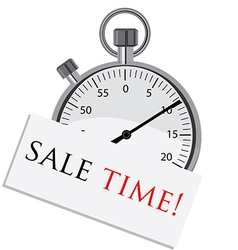 stopwatch with text sale time vector image
