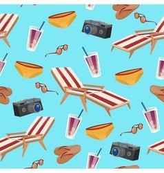 Summertime Holidays Seamless Pattern vector