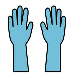 surgical gloves isolated icon vector image