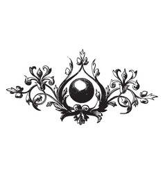 This design have boll vintage engraving vector