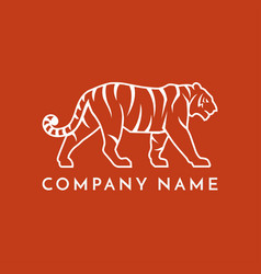 tiger line logo icon sign vector image
