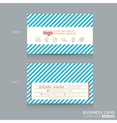 Trendy Business card Design Template vector image