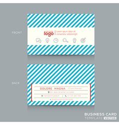 Trendy business card design template vector