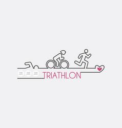 triathlon flat design vector image