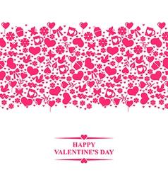 valentine el gorisontal vector image