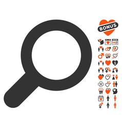 view icon with valentine bonus vector image