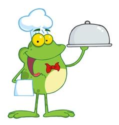 Waiter Frog Holding A Platter vector image