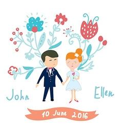 Wedding invitation funny card vector