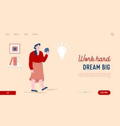 woman enjoying cup tea thinking creative vector image