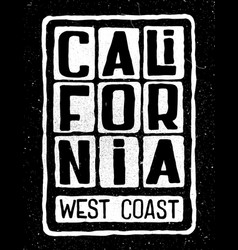 california west coast poster vector image vector image