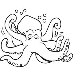 Cartoon octopus vector image vector image