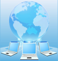 computer network world concept vector image
