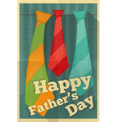 fathers day poster ties vector image vector image