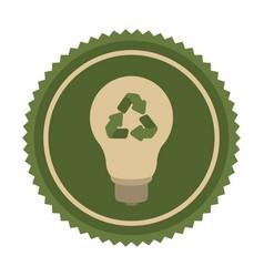 green eco bulb icon vector image vector image