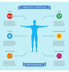 healthy lifestyle infographic vector image vector image