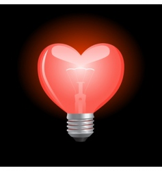 heart shaped bulb vector image vector image