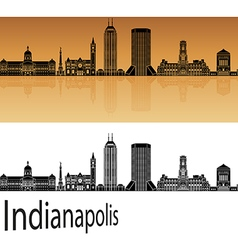 Indianapolis skyline in orange vector image vector image