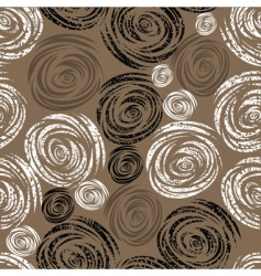 seamless beige grunge rose pattern vector image