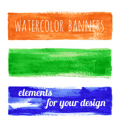set of watercolor paint texture banners vector image