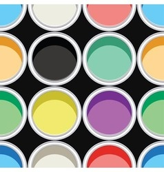 colorful paint cans vector image vector image