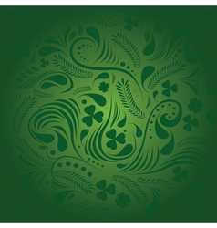 St Patricks day background with floral ornament vector image vector image