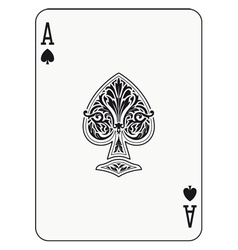 Ace of spades vector image vector image